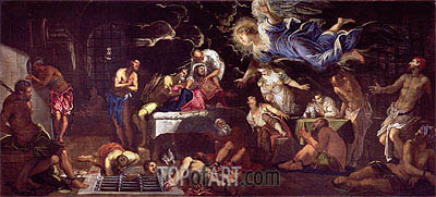 St. Roch Visited by an Angel in Prison, 1567 | Tintoretto | Gemälde Reproduktion