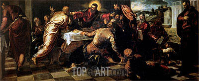 The Supper at Emmaus, Undated | Tintoretto | Gemälde Reproduktion