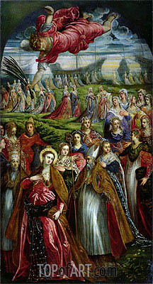 St. Ursula and the Eleven Thousand Virgins, Undated   Tintoretto   Gemälde Reproduktion