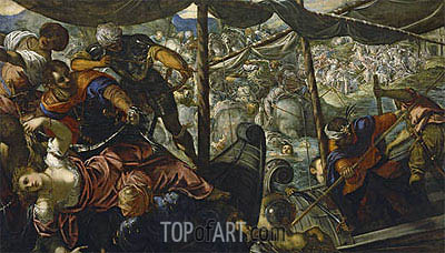 The Abduction of Helen, c.1578 | Tintoretto | Gemälde Reproduktion
