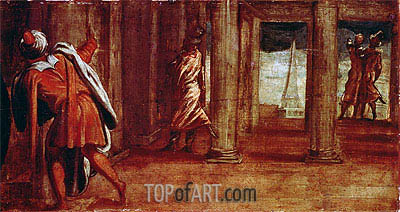The Prostration of Bathsheba, c.1548 | Tintoretto | Painting Reproduction