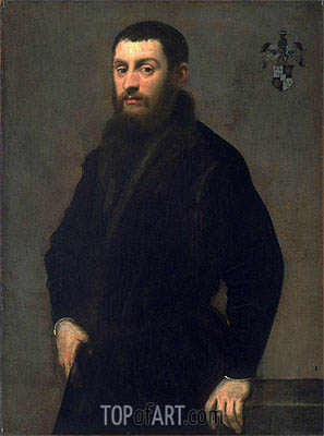Young Man from the Renialme Family, c.1547/48 | Tintoretto | Gemälde Reproduktion