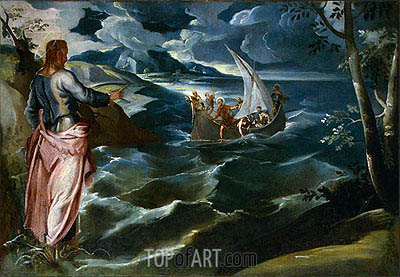 Christ at the Sea of Galilee, c.1575/80 | Tintoretto | Gemälde Reproduktion