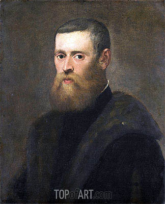 Portrait of a Man, c.1550/75 | Tintoretto | Painting Reproduction