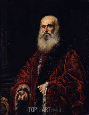 Portrait of a Venetian Patrician, undated | Tintoretto | Painting Reproduction