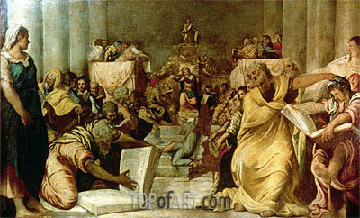 Christ Among the Doctors, c.1542 | Tintoretto | Painting Reproduction