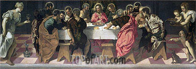 The Last Supper, 1547 | Tintoretto | Painting Reproduction