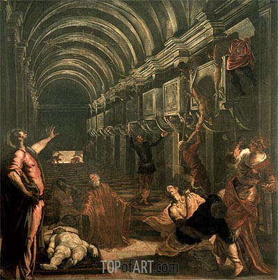 The Finding of the Body of St. Mark, c.1562/66 | Tintoretto | Painting Reproduction