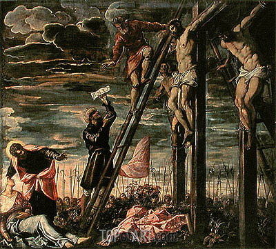 The Crucifixion of Christ, 1568 | Tintoretto | Painting Reproduction