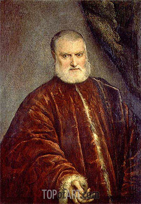 Portrait of Procurator Antonio Cappello, c.1551 | Tintoretto | Painting Reproduction