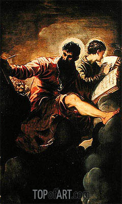 Evangelists Mark and John, 1557 | Tintoretto | Painting Reproduction
