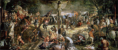The Crucifixion of Christ, 1565 | Tintoretto | Painting Reproduction