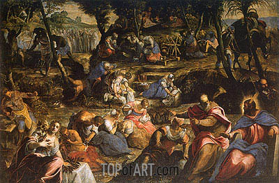 The Israelites in the Desert, c.1593 | Tintoretto | Painting Reproduction