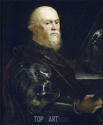 A Venetian Admiral, c.1570/75 | Tintoretto | Painting Reproduction