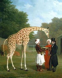 The Nubian Giraffe, 1827 by Jacques-Laurent Agasse | Painting Reproduction