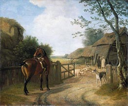 Daniel Beale at his Farm at Edmonton with his Favourite Horse, undated by Jacques-Laurent Agasse | Painting Reproduction