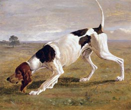 A Pointer in a Landscape, undated by Jacques-Laurent Agasse | Painting Reproduction