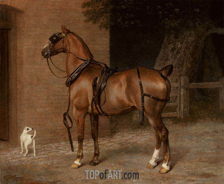 A Carriage Horse, undated | Jacques-Laurent Agasse | Gemälde Reproduktion