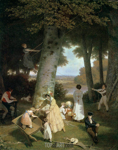 The Playground, 1830 | Jacques-Laurent Agasse | Painting Reproduction