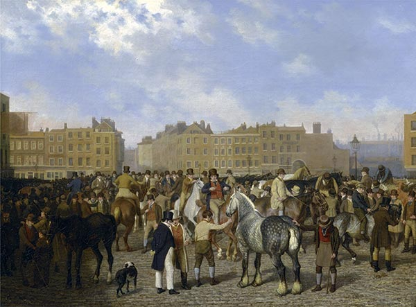 Old Smithfield Market, London, 1824 | Jacques-Laurent Agasse | Painting Reproduction