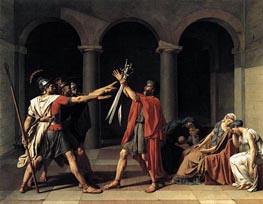 The Oath of the Horatii | Jacques-Louis David | Painting Reproduction