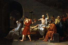 The Death of Socrates | Jacques-Louis David | Gemälde Reproduktion