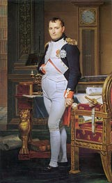 The Emperor Napoleon in His Study at the Tuileries | Jacques-Louis David | Painting Reproduction
