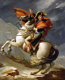 Napoleon Crossing the Alps on 20th May 1800 | Jacques-Louis David | Painting Reproduction