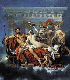 Mars Disarmed by Venus and the Three Graces | Jacques-Louis David | Painting Reproduction