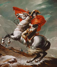 Napoleon Crossing the Saint Bernhard Pass | Jacques-Louis David | Painting Reproduction