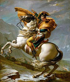 Napoleon Crossing the Alps at the St Bernard Pass, 20th May 1800, c.1800/01 by Jacques-Louis David | Painting Reproduction