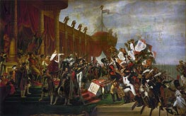 The Oath of the Army after the distribution of the Eagles on the Champs de Mars, December 5, 1804 | Jacques-Louis David | Painting Reproduction