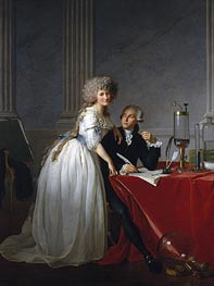 Antoine-Laurent Lavoisier and His Wife Marie-Anne-Pierrette Paulze | Jacques-Louis David | Gemälde Reproduktion