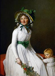 Mme. Seriziat and Her Son | Jacques-Louis David | Gemälde Reproduktion