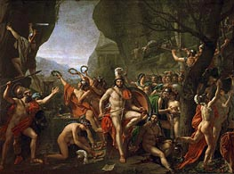 Leonidas at the Thermopylae | Jacques-Louis David | Painting Reproduction