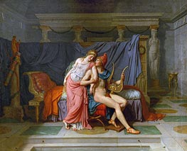 The Love of Paris and Helen | Jacques-Louis David | Painting Reproduction