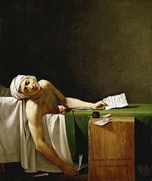 Assassinated Marat in His Bathtub, 1793 by Jacques-Louis David | Painting Reproduction