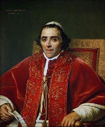 Pope Pius VII | Jacques-Louis David | Painting Reproduction