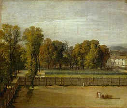 View from the Luxembourg Gardens in Paris | Jacques-Louis David | Painting Reproduction