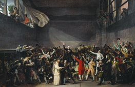 The Tennis Court Oath, 20th June 1789, 1791 by Jacques-Louis David | Painting Reproduction