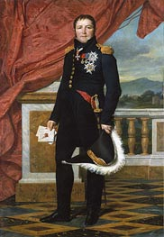 General Étienne-Maurice Gérard, Marshal of France, 1816 by Jacques-Louis David | Painting Reproduction