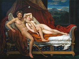 Cupid and Psyche, 1817 by Jacques-Louis David | Painting Reproduction