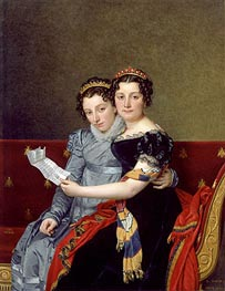 Portrait of the Sisters Zénaïde and Charlotte Bonaparte, 1821 by Jacques-Louis David | Painting Reproduction