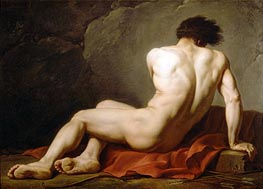 Patroclus (Academic Figure of a Man), undated by Jacques-Louis David | Painting Reproduction