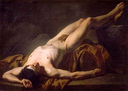 Hector (Academic Figure of a Man), undated by Jacques-Louis David | Painting Reproduction