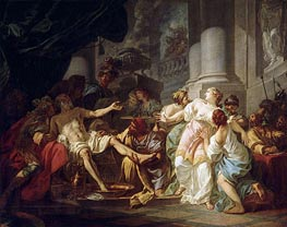 The Death of Seneca, undated by Jacques-Louis David | Painting Reproduction