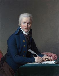 Portrait of Jacobus Blauw, 1795 von Jacques-Louis David | Gemälde-Reproduktion