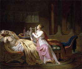 Homer and Calliope, 1812 von Jacques-Louis David | Gemälde-Reproduktion