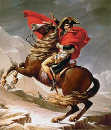 Napoleon Crossing the Alps, c.1800 by Jacques-Louis David | Painting Reproduction