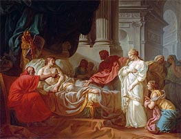 Antiochus and Stratonice, 1774 by Jacques-Louis David | Painting Reproduction